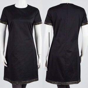 BURBERRY Cotton Studded Short-Sleeved  Dres